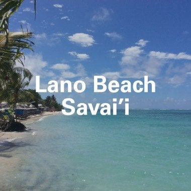 Lano Beach in Savai'i