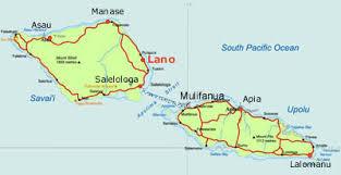 Lano Beach Savaii Samoa map