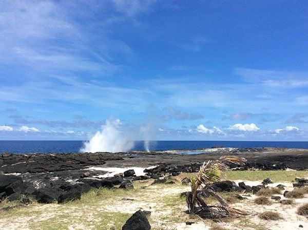 Taga blow holes Savaii Samoa